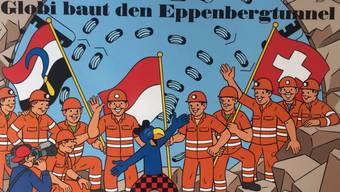 Globi baut den Eppenbergtunnel