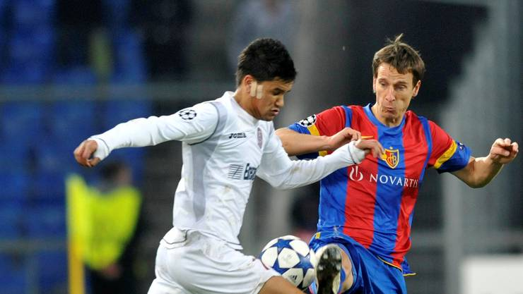 Nach seinem Kurzeinsatz gegen Cluj bekommt Reto Zanni (rechts) auch in der Super League Einsatzzeit.