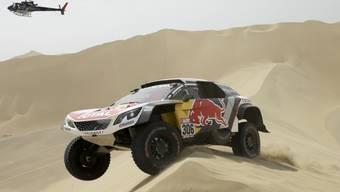 Sébastien Loeb gibt die Rallye Dakar 2018 an zweiter Stelle liegend auf