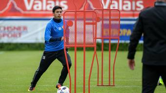 Blas Riveros während des Trainings mit dem FC Basel.