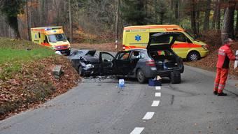 Verkehrsunfall auf der Gempenstrasse in Dornach fordert zwei Verletzte
