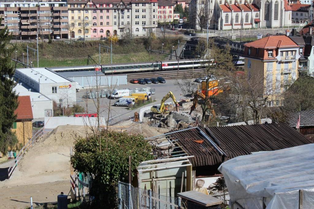 Abbruch Eisenbahnbrücke Oberstrasse