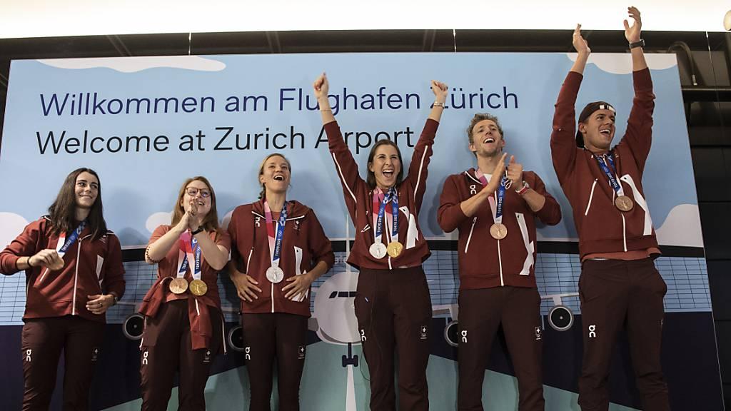 Empfang für erfolgreiche Sommer-Olympioniken in Magglingen
