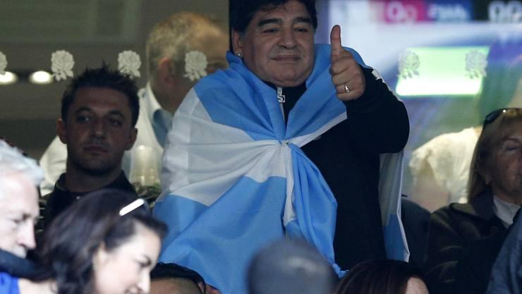 Retter des Fussballs? Diego Maradona will mit FIFA-Präsident Gianni Infantino zusammenarbeiten