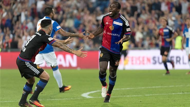 In der Super League trifft Seydou Doumbia für den FCB fast, wie er will.
