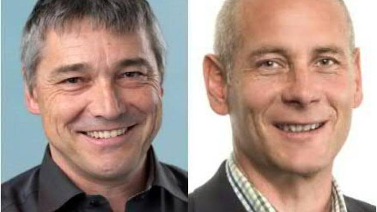 Die beiden neuen Schaffhauser Regierungsräte Walter Vogelsanger (SP, links) und Martin Kessler (FDP).