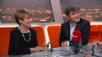 Lisa Schmid und Matthias Flückiger in der Sendung «TalkTäglich»