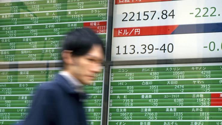 Die Nordkorea-Krise treibt die Aktien von Rüstungsunternehmen an den Börsen Asiens in die Höhe. (Archivbild)