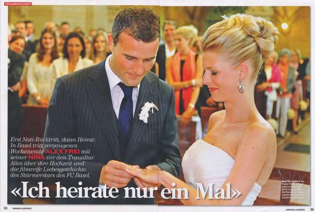 Alex Frei heiratet seine Nina in der Basler Pauluskirche