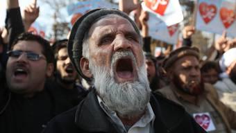 Muslime protestieren in Kabul gegen Karikaturen ihres Propheten