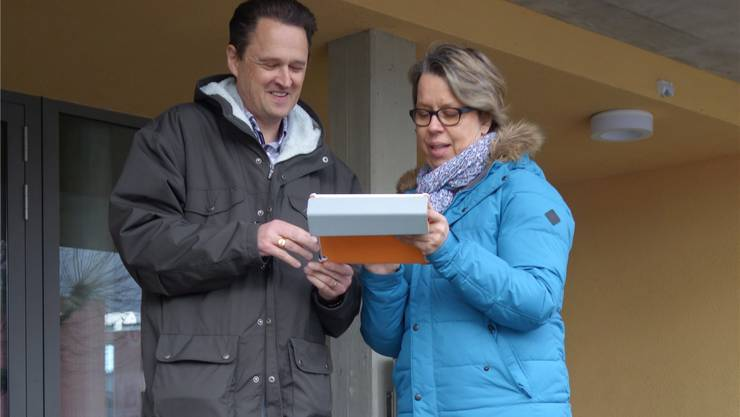 OK-Präsident Martin Huber und Mechthild Meier Fischer erwarten Ende April über 50Unternehmer auf dem Gelände der Mehrzweckhalle.