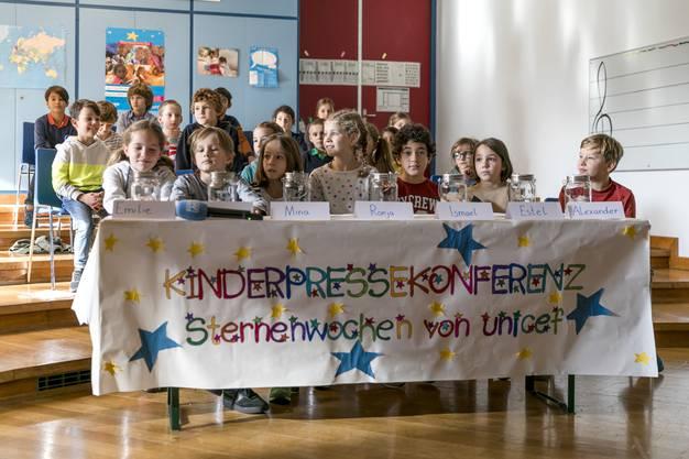 Impressionen von der Kinderpressekonferenz in Baden