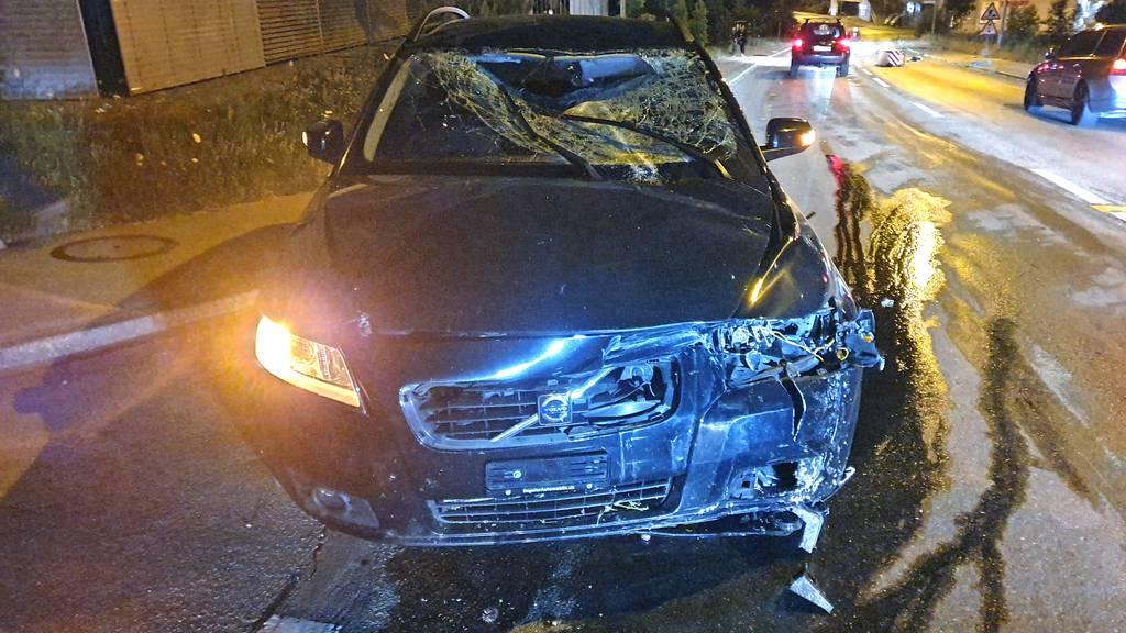 Der betrunkene Autofahrer blieb beim Unfall in Sulgen unverletzt.