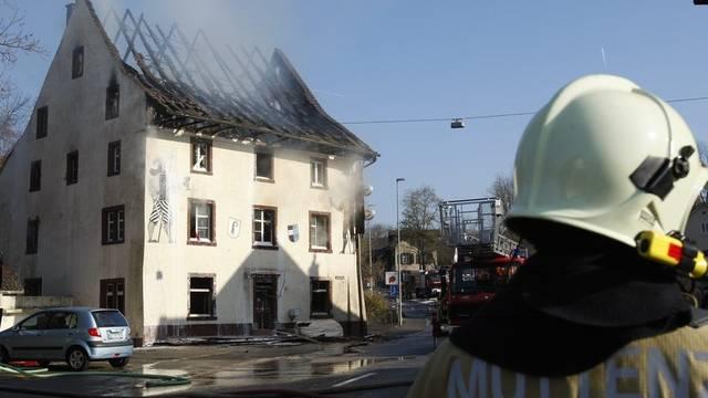 Das abgebrannte Lokal am Tag nach der Brandstiftung (Archiv)