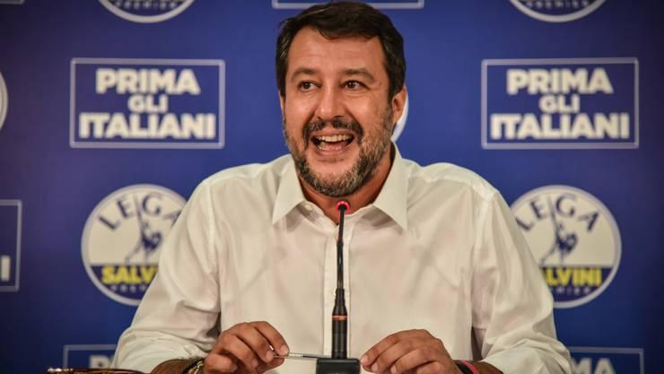 Matteo Salvini, das Gesicht der Rechten in Italien, während einer Medienkonferenz zu den Resultaten der Regionalwahlen.