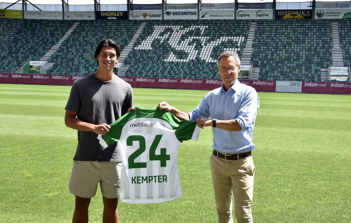 Michael Kempter bekommt beim FC St.Gallen das Trikot mit der Nummer 24.