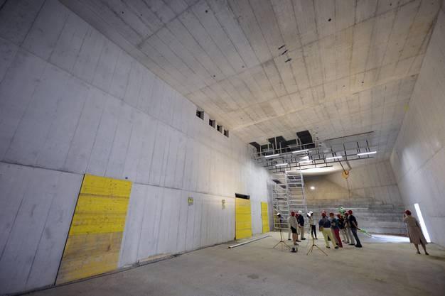 Tag der offenen Baustelle mit Blick auf den aktuellen Stand der Sanierungs- und Erweiterungsarbeiten im Schweizer Landesmuseum.