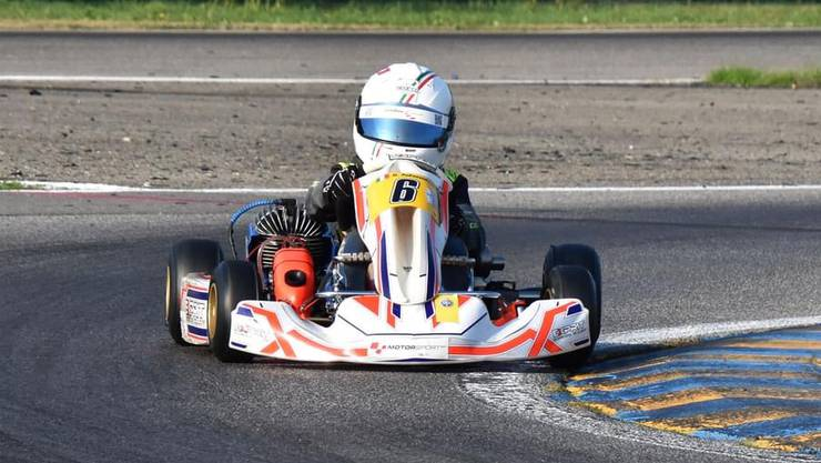 An der Schweizer Kart-Meisterschaft fuhr Dario Palazzolo als einer der Jüngsten auf Rang 7.
