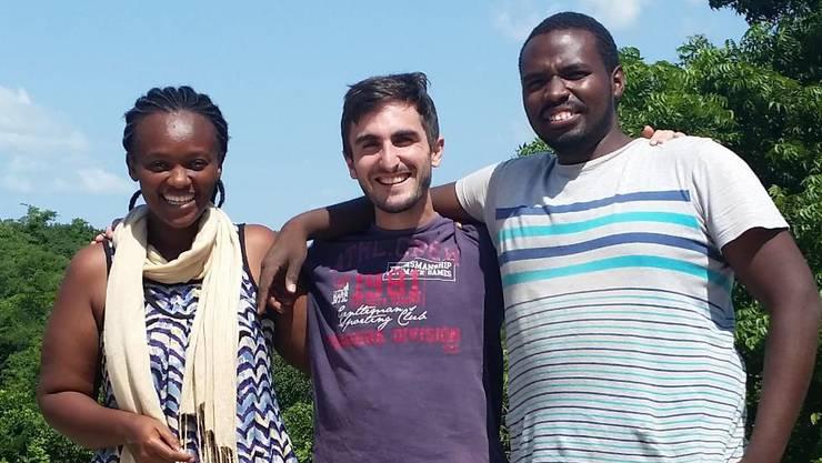 Subira Edward, Severin Spring und Firoz Katabaro in Tansania (v. l.)