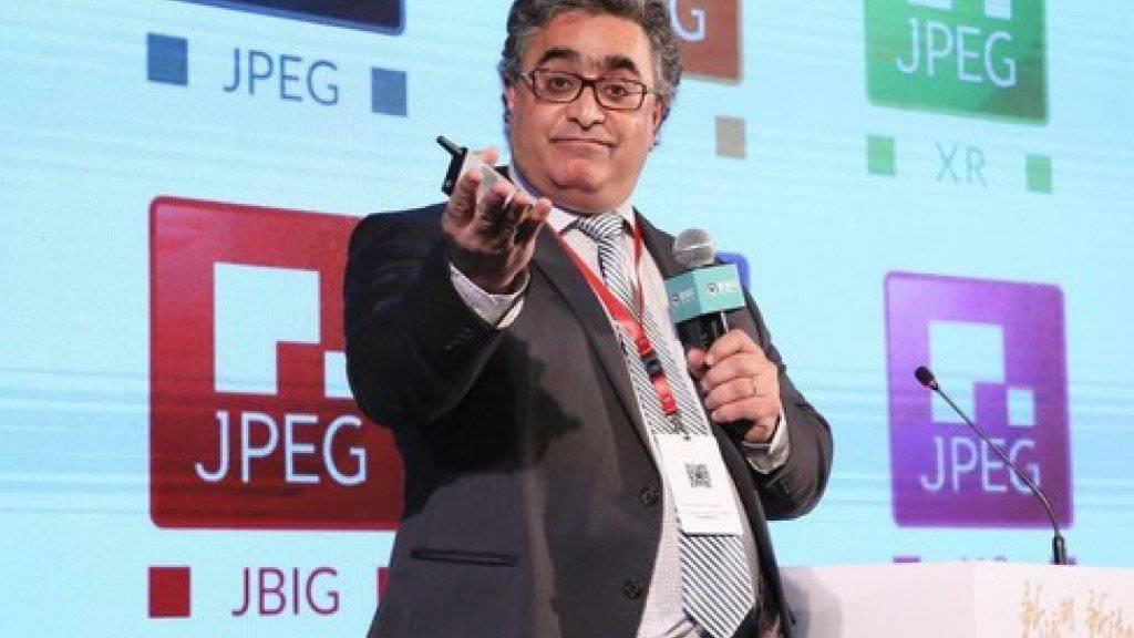 Touradj Ebrahimi von der ETH Lausanne steht an der Spitze des Expertengremiums JPEG (Joint Photographic Experts Group). Am Montag stellte er ein neues Bildkompressionsverfahren in Aussicht. JPEG XS braucht noch die ISO-Zulassung.