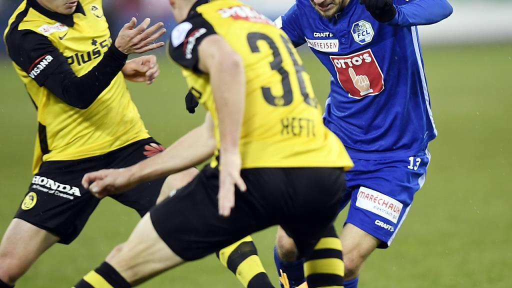 Saison startet mit Luzern - Young Boys