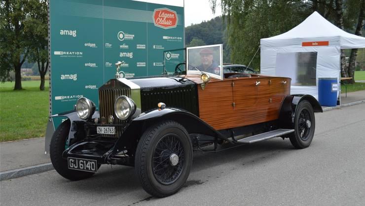 Dieser Rolls-Royce war an der ersten «Lägern Classic» im vergangenen Jahr in Würenlos zu bestaunen. Bilder: zvg/Lägern Classic