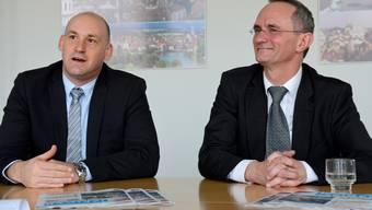 Yves Derendinger (links) und Herbert Bracher.