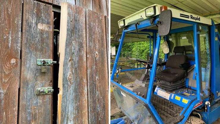 Unbekannte brachen in die Materialhütte ein und zerschlugen Scheiben des Rasenmähers.