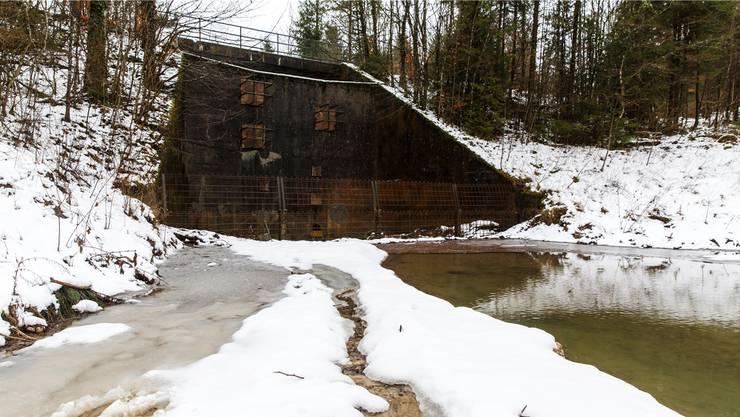 Der Geschiebesammler Lindli hält bei Starkregen bis zu 6000 Kubikmeter Wasser im Lochbach zurück.