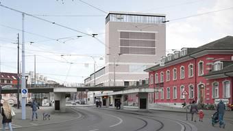 So soll der Neubau des Naturhistorischen Museums aussehen. Doch Pro Natura Basel und WWF Region Basel wehren sich gegen das Projekt.