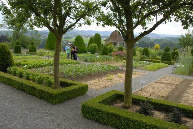 Der Barockgarten im Schloss Wildegg.
