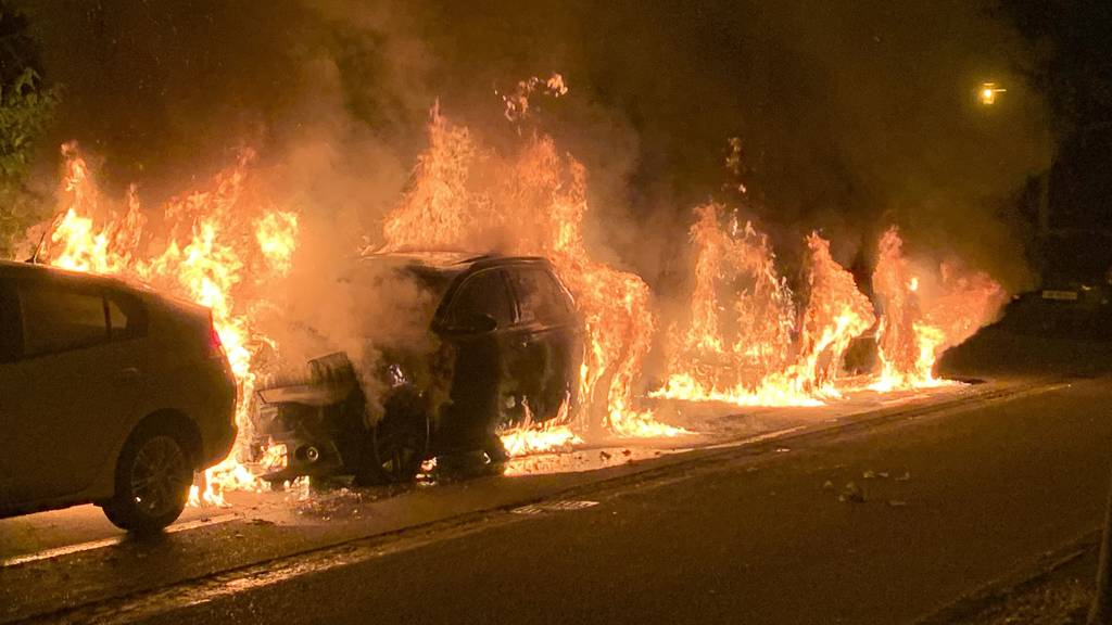In Luzern brannten drei parkierte Autos