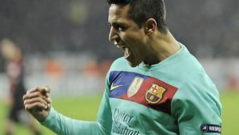 Alexis Sanchez Doppeltorschütze für Barcelona.