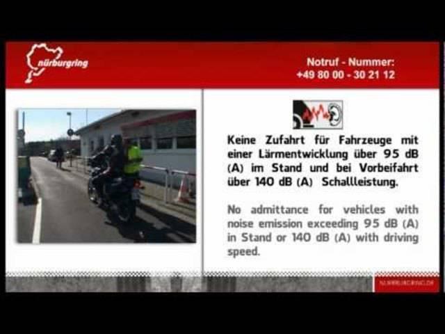 Die Nordschleife-Sicherheitsregeln für Touristenfahrten.