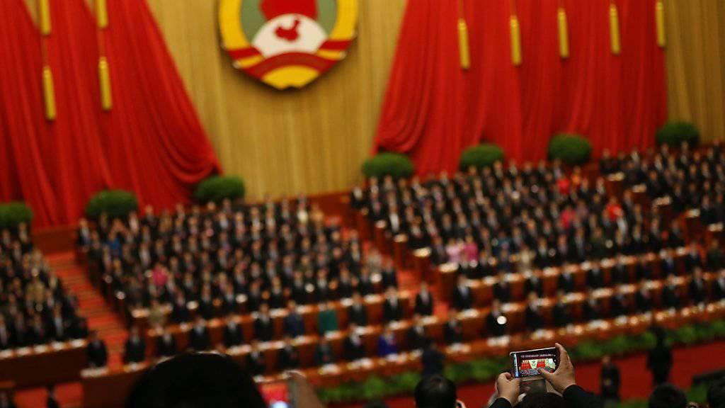 Noch nie eine Vorlage abgelehnt: Chinas Volkskongress billigt auch den jüngsten Fünf-Jahres-Plan.