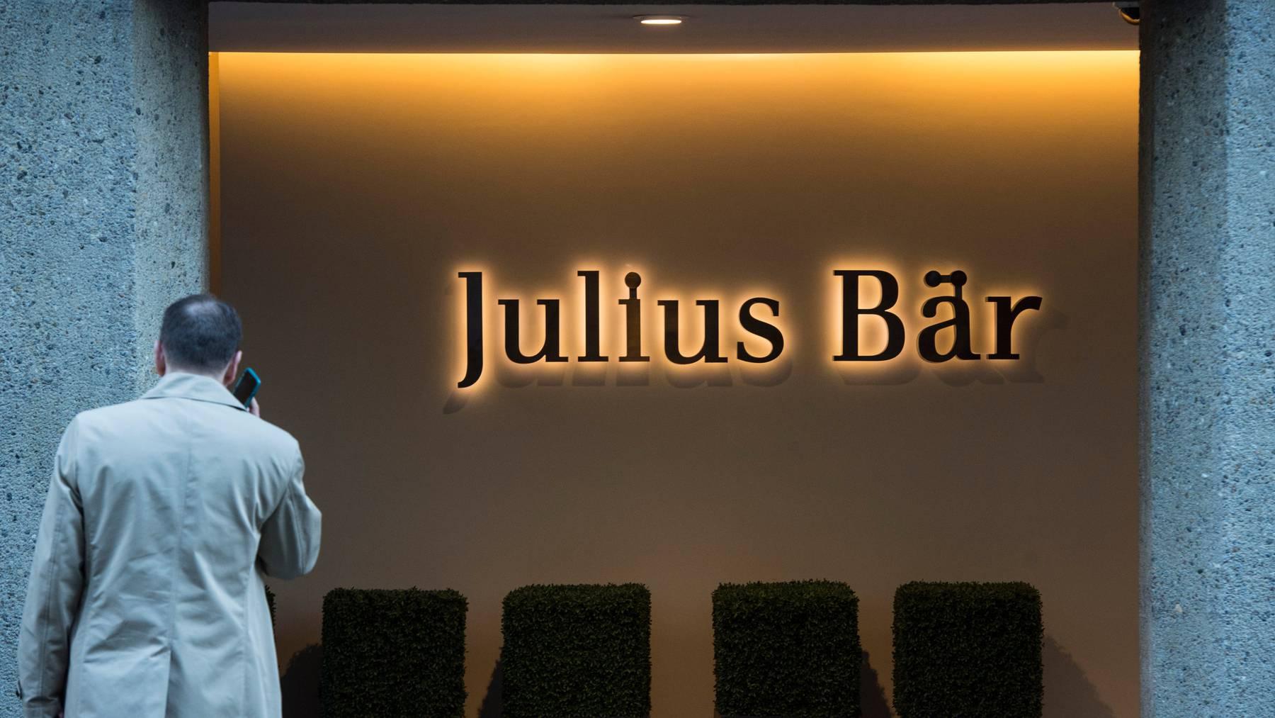Die Bank Julius Bär profitierte im dritten Quartal von einem Anstieg der Kundentätigkeit, verlor aber in Italien weiterhin Geld. (Symbolbild)