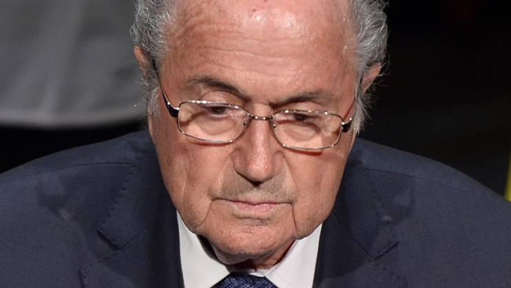 Fifa-Boss Sepp Blatter sieht nicht so aus, als hätte er alles im Griff.