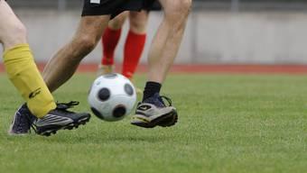 Unbekannt spielten auf der Wiese Fussball und verursachten einen Sachschaden. (Symbolbild/Archiv)
