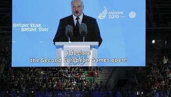 Der Präsident Weissrusslands Alexander Lukaschenko hat die 2. Europaspiele in Minsk eröffnet.