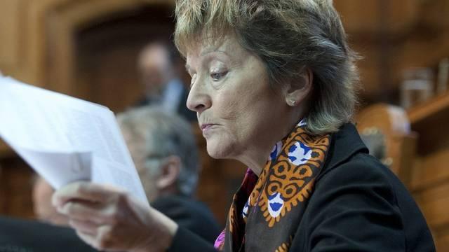 Weilt zu Gesprächen in Brüssel: Bundespräsidentin Eveline Widmer-Schlumpf (Archiv)