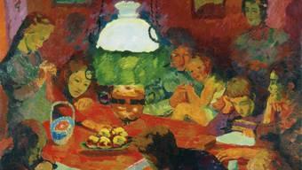 """Giovanni Giacomettis Ölgemälde """"Die Lampe"""" (1912) ist Teil der Ausstellung """"Ottilia Giacometti - Ein Porträt"""" im Kunsthaus Zürich. Die Ausstellung dauert vom 7. Februar bis 3. Mai."""