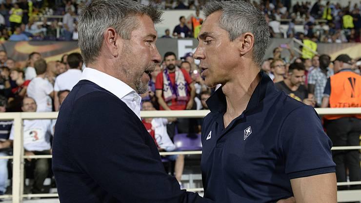 Urs Fischer (links) und Paulo Sousa: Beide sind in Basel bekannt fürs Herumschieben von Spielern. Doch dies geschieht nicht aus reiner Lust am Zocken.