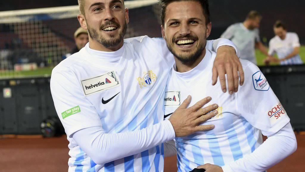 Gleich zwei Ausfälle: Den FCZ-Spielern Marco Schoenbächler (li.) und Antonio Marchesano droht eine längere Verletzungspause