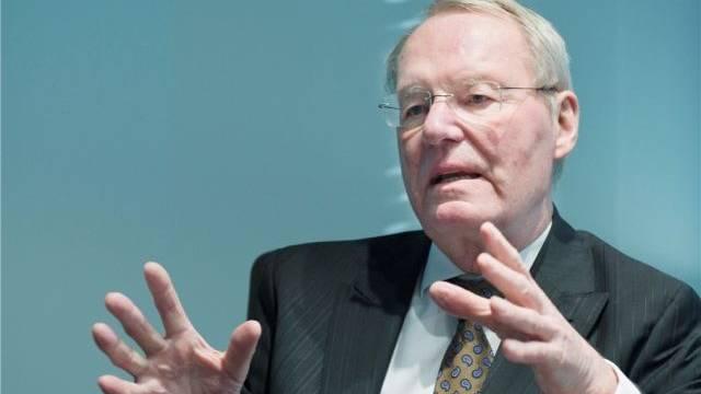 Hans-Olaf Henkel, Ex-Präsident des Bundesverbandes der Deutschen Industrie (BDI), über Wege aus der Währungskrise. Foto: Markus Forte