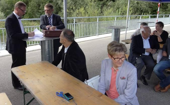 Auch Regierungsrätin Sabine Pegoraro aus dem Kanton Basel-Landschaft ist an der Übergabefeier dabei