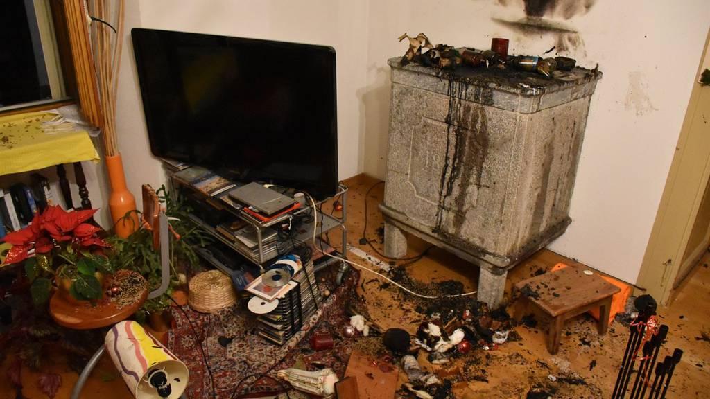 Beim Feuer entstand geringer Sachschaden.