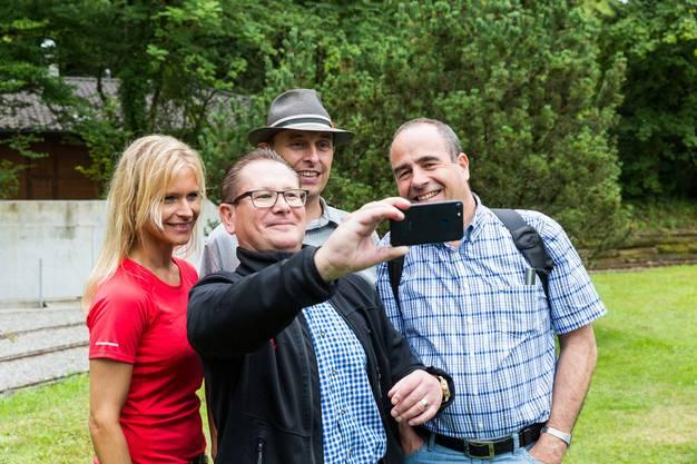 (v.l.) Nicole Müller-Boder (Grossrätin AG), Rolf Jäggi (Grossrat AG/Gemeindeammann Egliswil), Pascal Furer (Grossrat AG/Gemeinderat Staufen), Otto Moser (Gemeindeammann Staufen)