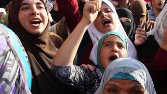 Jubel auf dem Tahrir-Platz in Kairo nach Bekanntgabe der Resultate.key