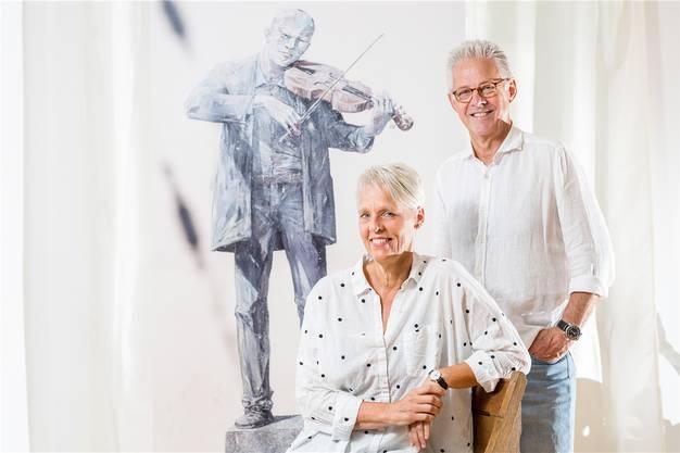Stellten das Street-Art-Buch zusammen: Regula Laux und Jean-Marc Felix.