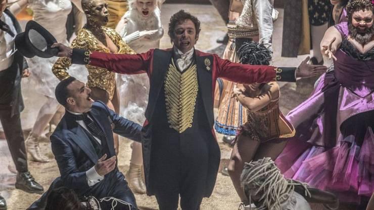 """Ab 4. Januar ist Hugh Jackman als """"The Greatest Showman"""" in den Kinos zu sehen. Sein erstes Geld im Showbusiness verdiente er als Clown auf Kindergeburtstagen. (Archivbild)"""